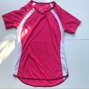 Nike XS - Small pink & white short sleeve Shirt